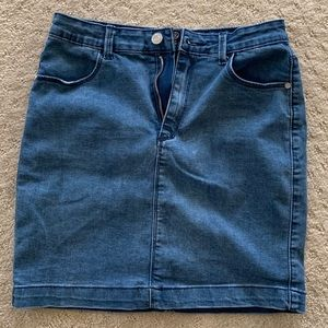 Missguided denim mini skirt.